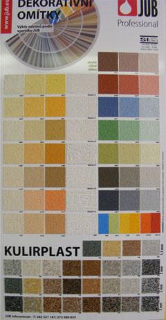 Paleta barev JUB